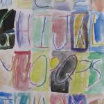 Watercolour Wash / Crayon Resist Alphabet