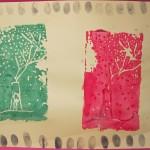 Foam Plate Printmaking / Elementary School Art