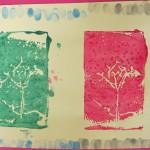Printmaking Using Foam Trays