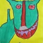 Elementary Artwork based on George Rodrigue's paintings / books