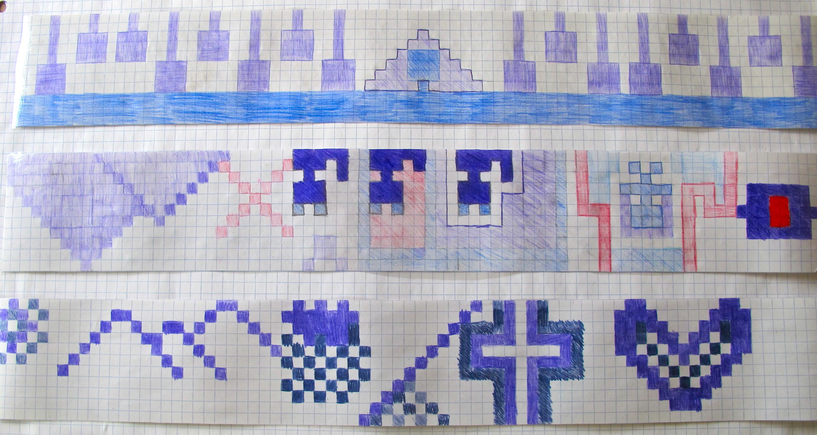 Grade 6 wampum belt design art here and there using symbols to communicate biocorpaavc Choice Image