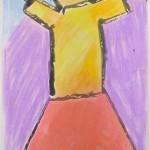Figure Study Using Paint & Chalk Pastel