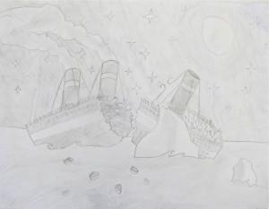 Pencil Drawing Titanic; Grade 7
