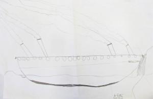 Titanic Drawing; Grade 3