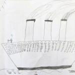 Titanic Pencil Drawing