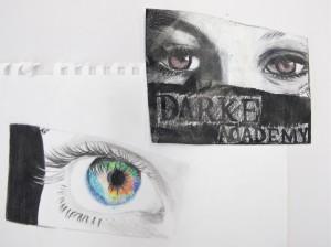 Pencil Drawing of Eyes / Grade 7