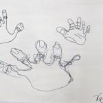 Line Drawing Hands
