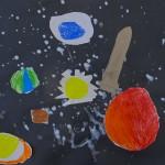 Cardboard Rockets in Low Relief / Elementary