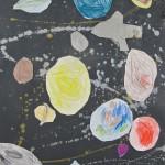 Rockets, Stars & Planets in Grade 3 Art