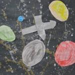 Drawn, Painted Cutout Art Project / Grade 2/3
