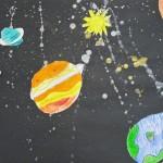 Pencil Crayon Drawings of Planets / Grade 2/3