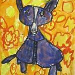 Grade 2/3:  Blue Dog Paintings