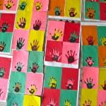 Grade 5/6 Warhol Hand Prints