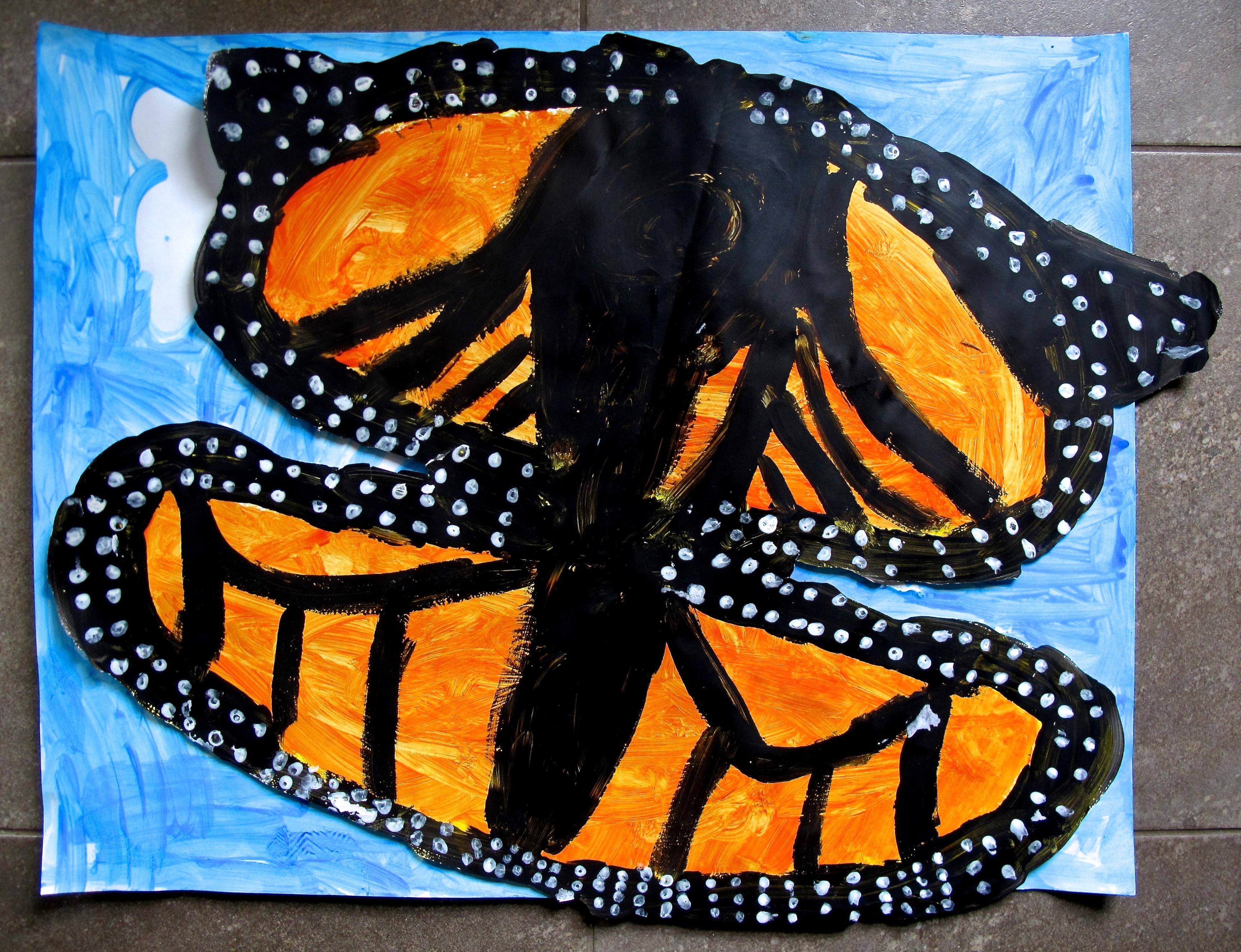 Grade 2/3: Painted Monarch Butterflies