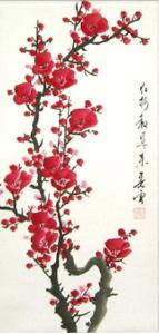 Japanese Plum Blossom / Sumi-e painting